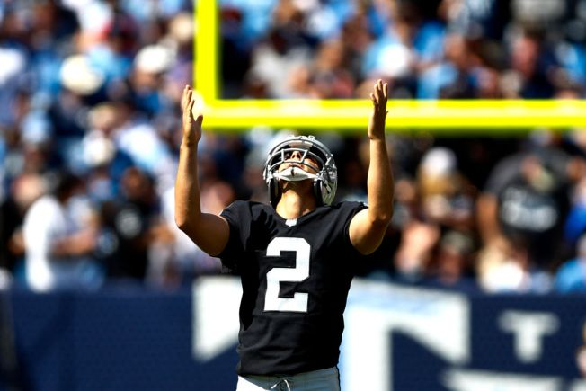Unlikely Hero: Raiders kicker Giorgio Tavecchio wins game ball vs. Titans