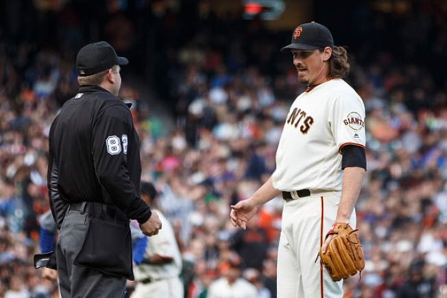 Samardzija Loses No-No in 7th, Gets Little Support as Giants Fall to Mets