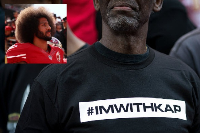 finest selection 911f8 fab7a ImWithKap: Celebrities, Athletes Show Solidarity With Colin ...