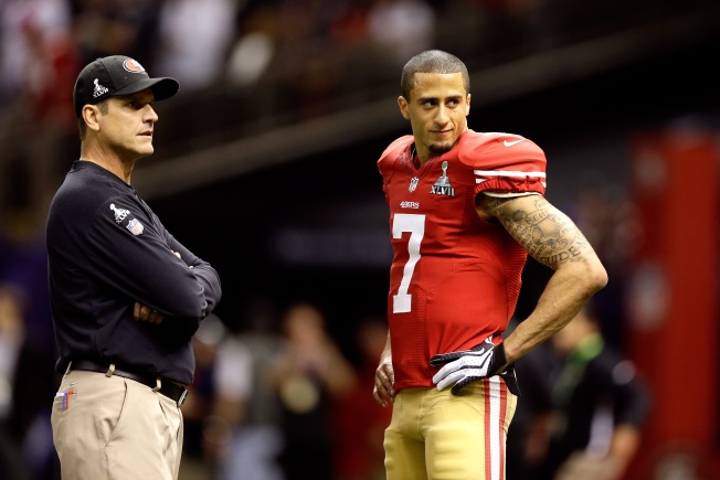 Harbaugh Convinced Kaepernick Will Improve