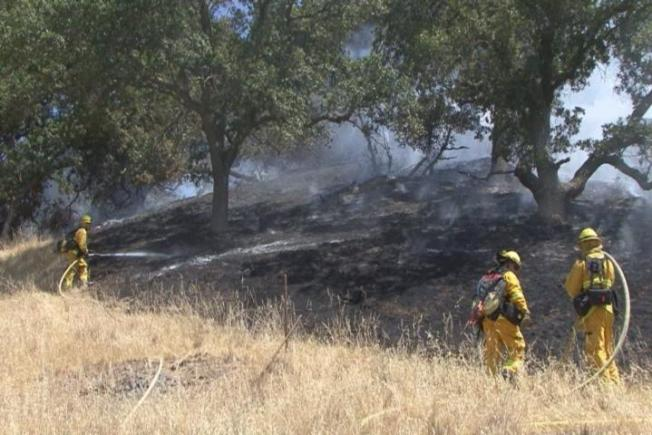 Two-Alarm Wildfire Chars 5 Acres of Brush in Marinwood, Novato