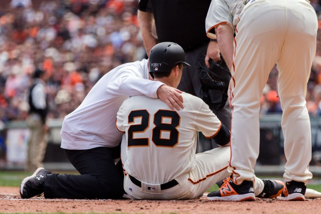 Giants catcher Buster Posey starts working out, reports feeling good