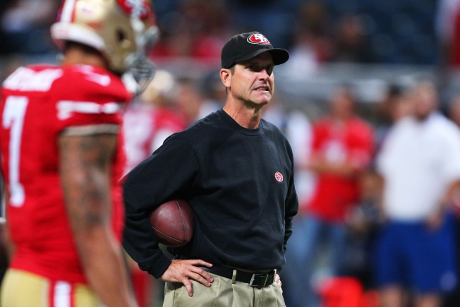 San Francisco 49ers Coach Jim Harbaugh Discusses Wardrobe