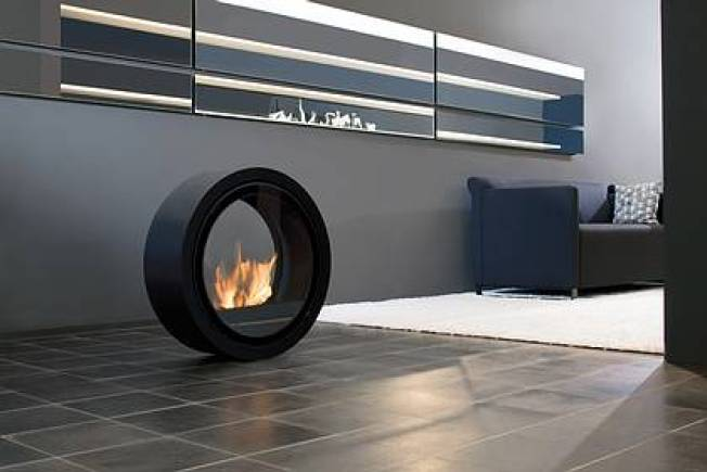 Rolling Fireplace Puts Danger on the Move