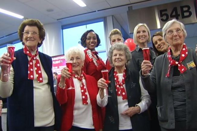 """Rosie the Riveters"" Off to D.C. to Get a Hug From Joe Biden"