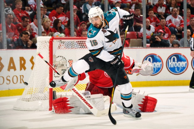 Setoguchi Hat Trick Keys Sharks' OT Win