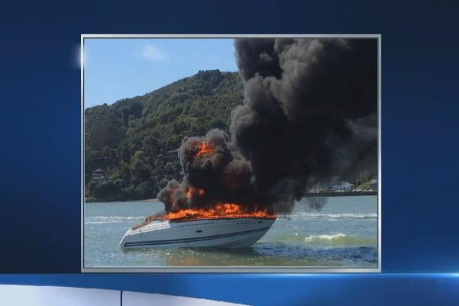 Eight People Pulled From Water After Boat Catches Fire Near Tiburon