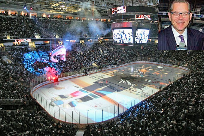 Sharks Radio Man Dan Rusanowsky Calls 2,000th NHL Game