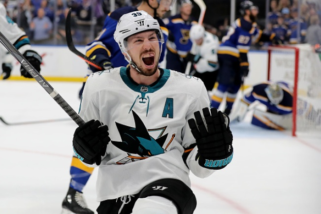 Sharks Top Blues in OT For Huge Game 3 Win