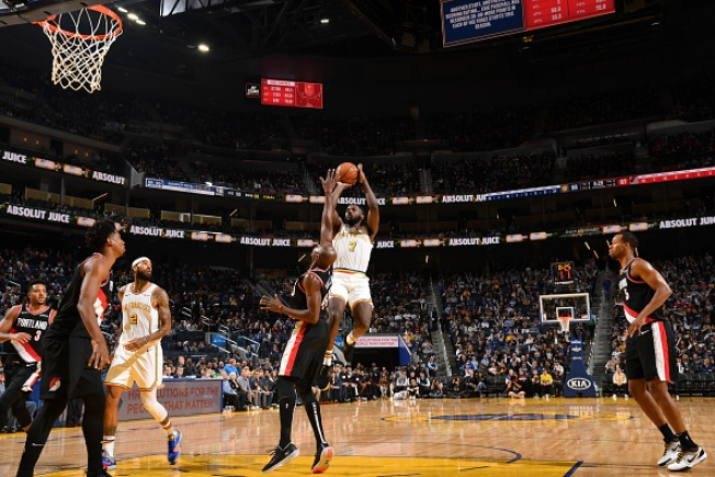 Warriors Top Blazers For First Win at Chase Center