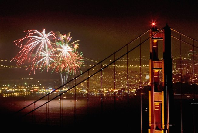 Fireworks Traffic Heads Up From Marin