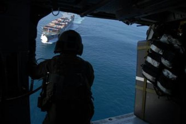 129th Rescue Wing Rescues Man From Cargo Ship