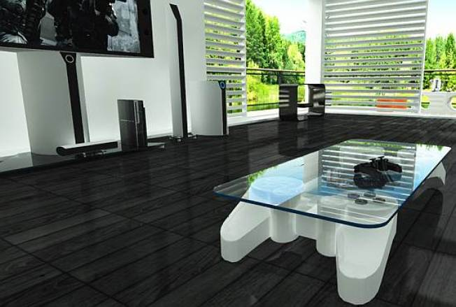 PS3 Coffee Table Makes Gaming the Centerpiece of Your Room