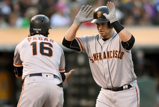 Giants Rout A's, Avoid Sweep in Bay Bridge Series