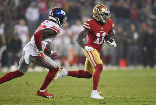 Niners' Marquise Goodwin Shows Off His Speed