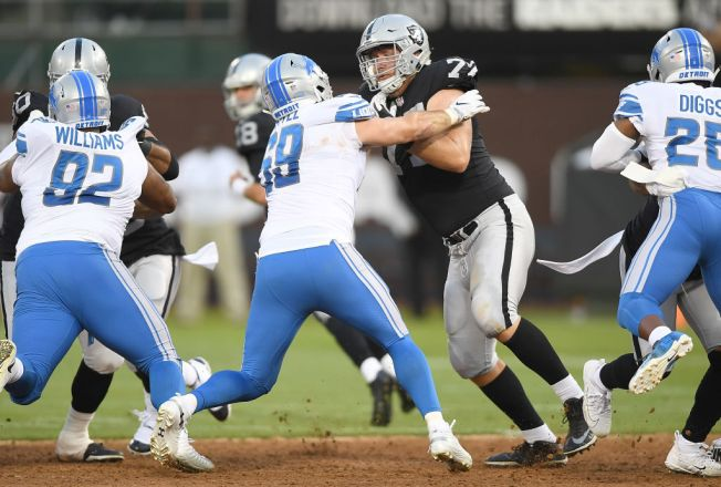 Raiders' Top Rookie Kolton Miller Off to a Strong Start
