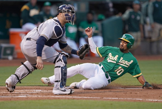 No Late-Inning Magic in A's Loss to Brewers