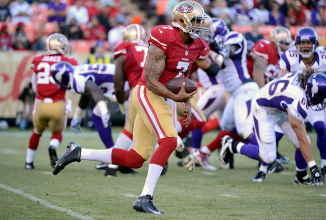 Kaepernick Makes a Statement in 49ers' Exhibition Victory
