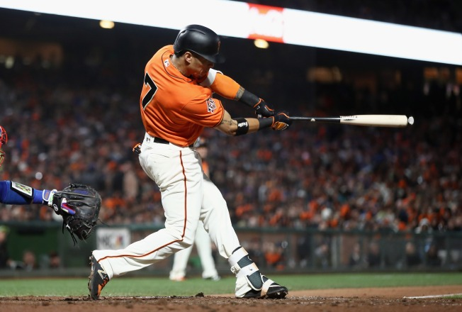 Longoria, Crawford Homer as Giants Slip Past Dodgers, 6-4