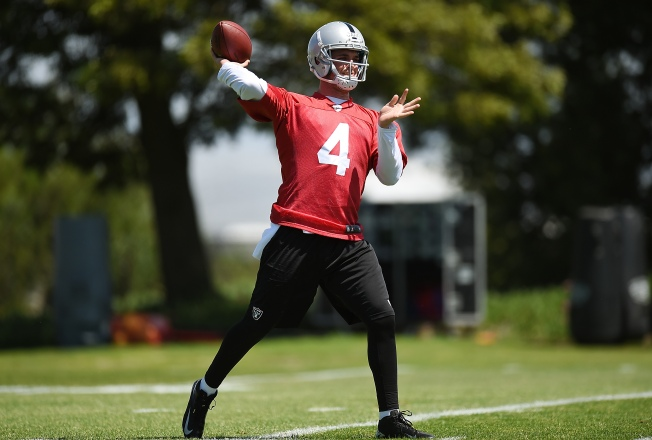 Raiders' Carr, Schaub Have Their Believers and Doubters