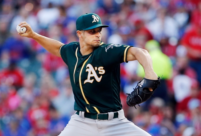 Athletics' Graveman loses no-hit bid in 7th vs Rangers
