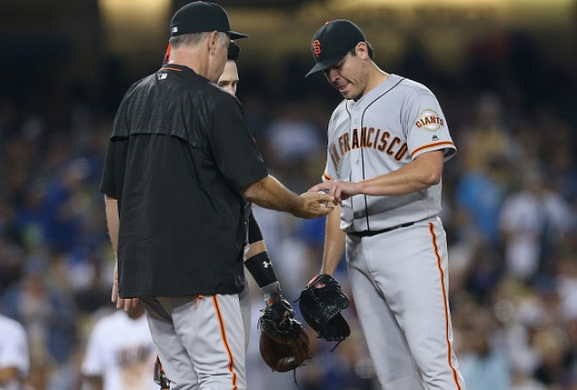 Matt Moore Lit Up as Giants Fall to Dodgers