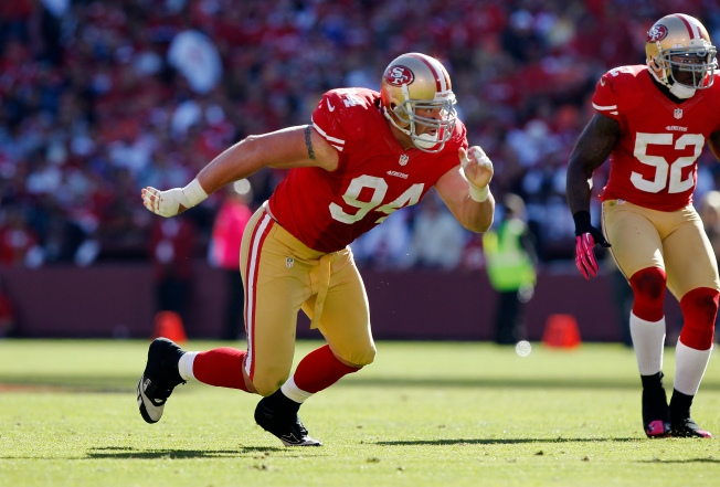 Niners' Biggest Boost Would be a Healthy Justin Smith