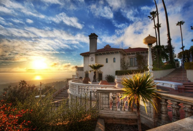 Sparkle and Sunsets: Hearst Castle December