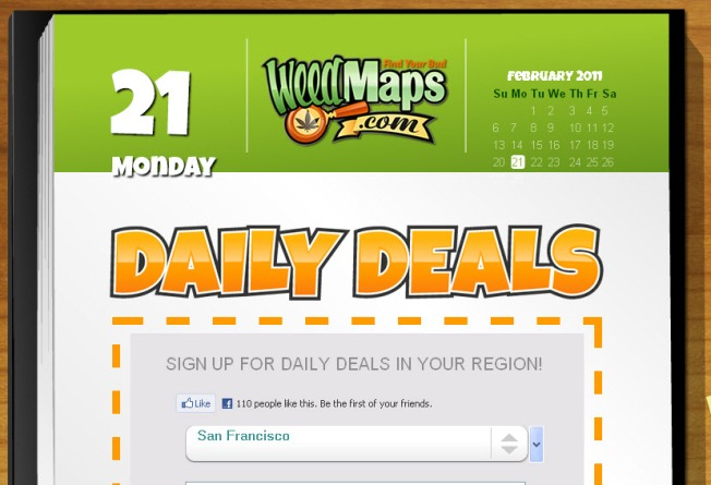 Daily, Groupon-Style Marijuana Deals