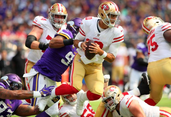 First NFL Loss Hasn't Fazed 49ers QB Jimmy Garoppolo