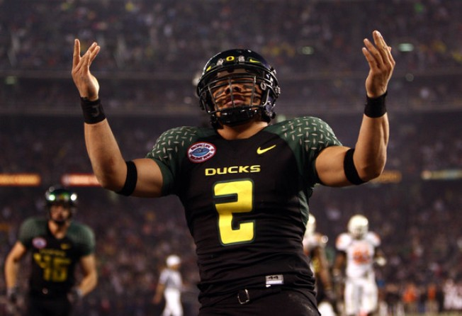 Ducks Quarterback Stirs Daly City Pride at Rose Bowl