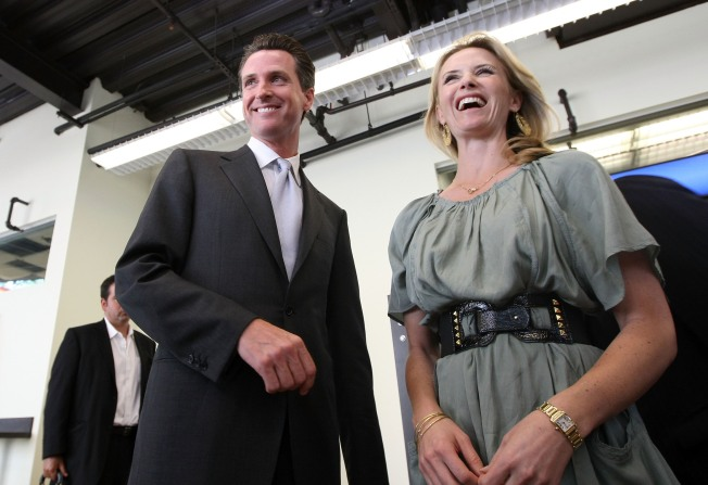 Newsom Speaks Up for His Wife