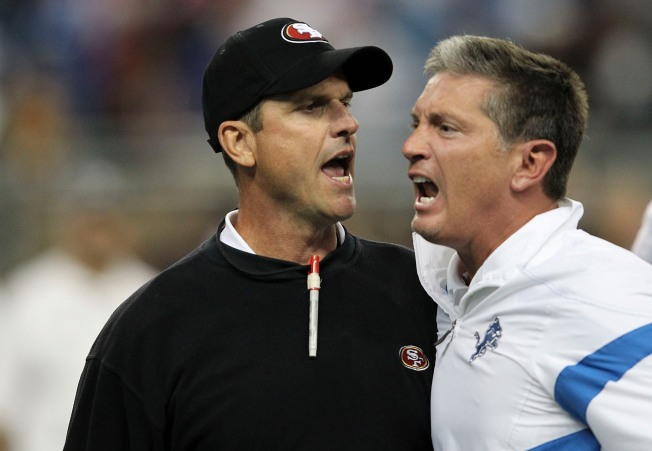 49ers Harbaugh Not Fined for Handshake Scuffle