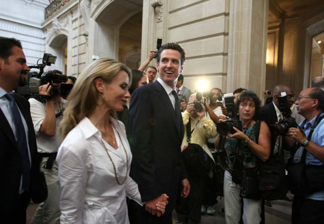 Newsom Open to Advice on Diapers, Feeding Et Al