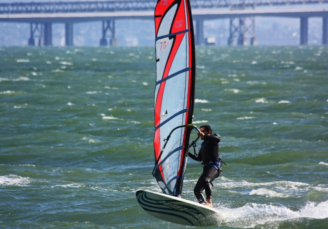 Stranded Windsurfer Calls for Help from SF Bay