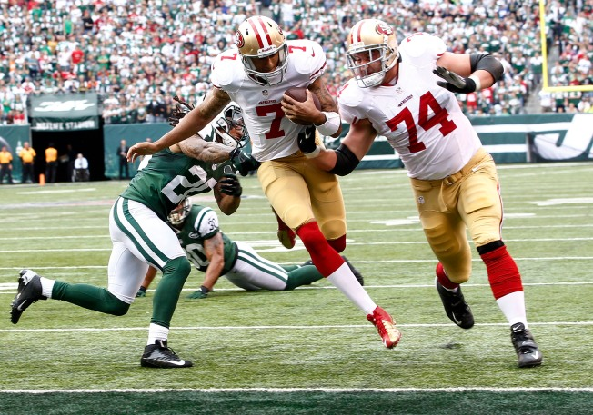 Niners Rebound by Running Over Jets in 34-0 victory