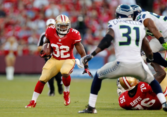 Niners' Hunter Shows He's Back to Speed
