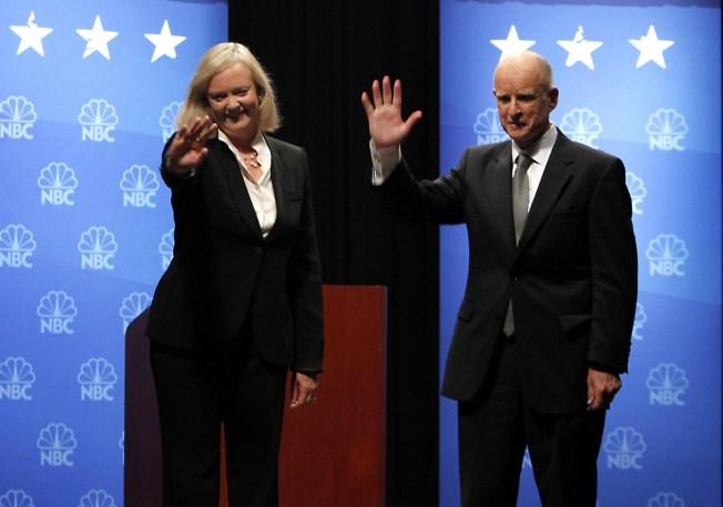 Dissatisfied Voters to Choose Between Brown, Whitman