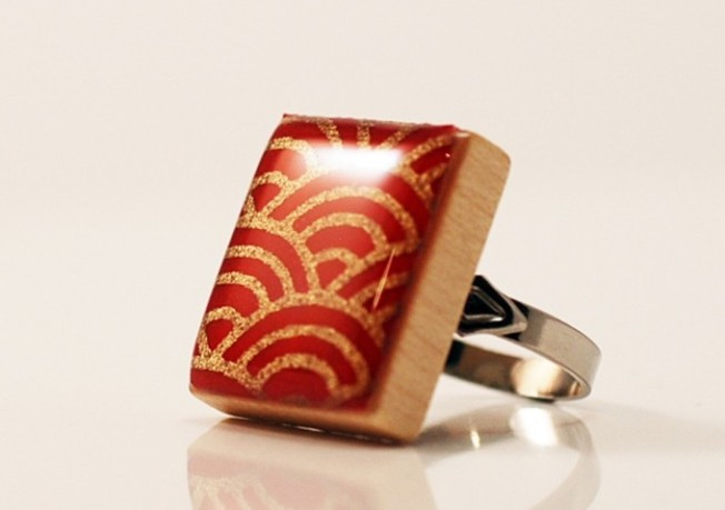 Scrabble Tile Ring