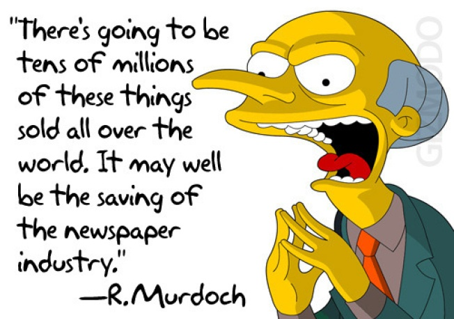 Murdoch, Jobs Create 'The Daily' -- Another Game Changer?