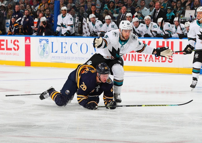 Sharks Rally in Third, Fall to Sabres in Overtime