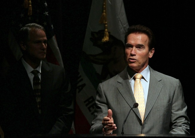 Gas Tax Bill Collects Dust on Arnold's Desk