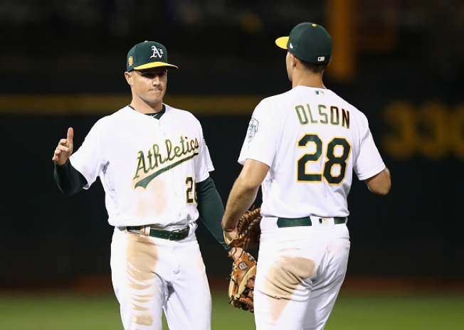 A's Chapman, Olson Bring Home AL Gold Glove Awards