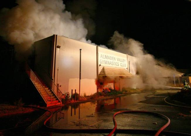 Former San Jose Gymnastics Club Burned