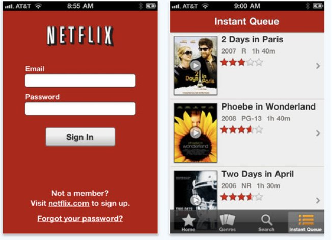 Netflix Lands on the iPhone and iPod Touch, Android Soon