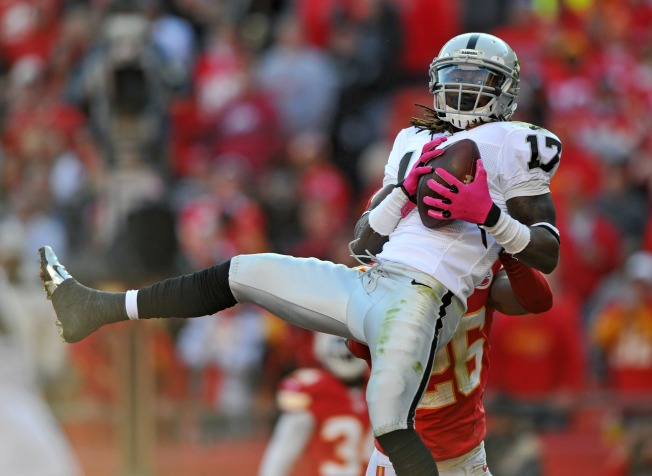 Healthy Again, Raiders' Denarius Moore is Showing His Talent