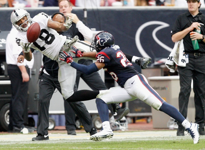 Holmes Shows Raiders He's a Fine Catch