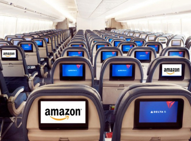 Amazon Gets Access to Captive Audience on Delta Airlines