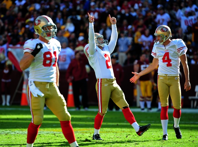 49ers Enjoying David Akers Golden Leg