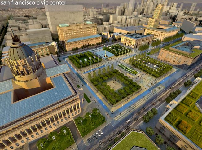 "Gavin Declares Civic Center ""Sustainable Resource District"""